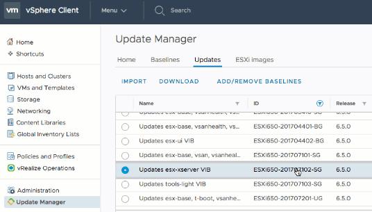 vSphere 6 7 – Update Manager – ESXi Upgrade Enhancements (No