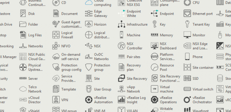 Official VMware Visio Stencils & Icons for 2019 – VirtualG uk
