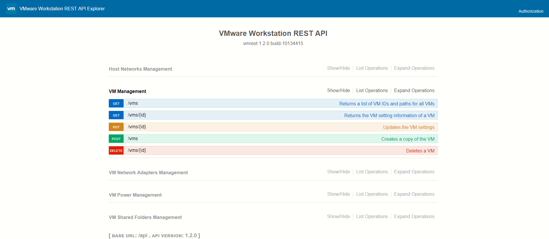 Setting up and using the Workstation 15 Pro REST API – VirtualG uk
